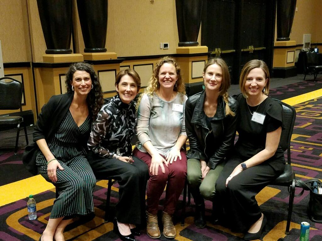 Jennifer Gill SLP, Oregon Portland meeting with other voice therapists in Las Vegas, Nevada.
