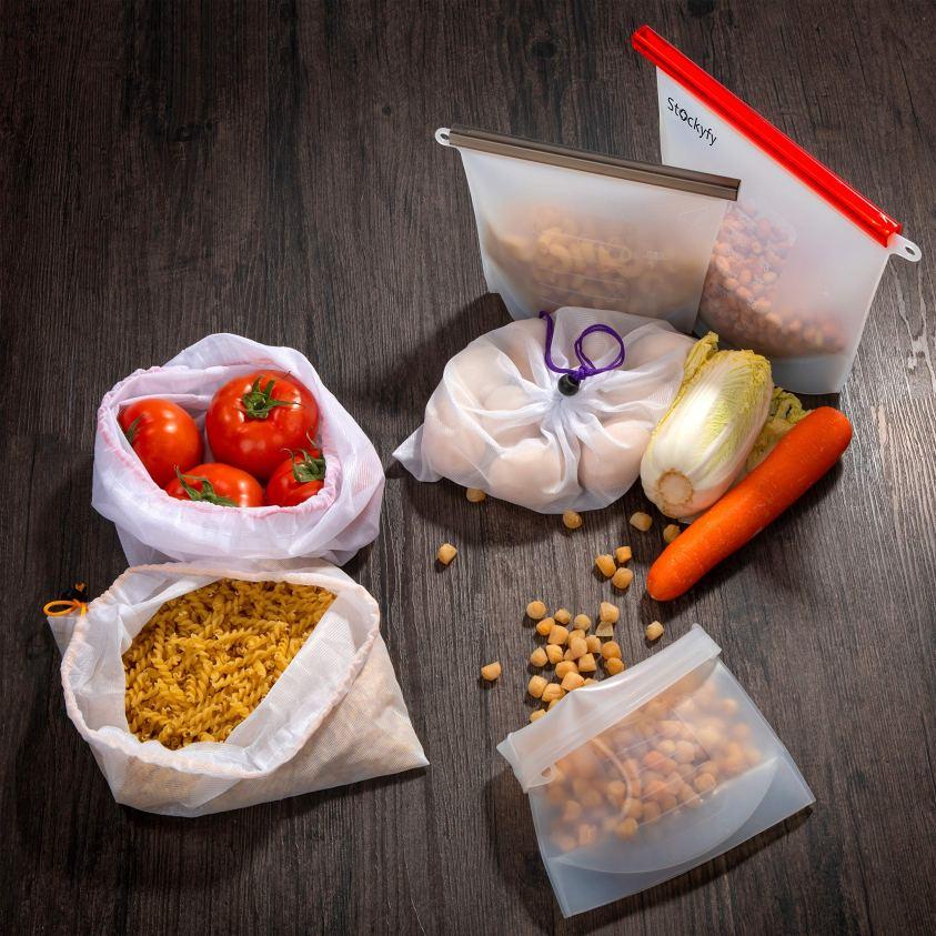 Eco Friendly Reusable Food Storage Bags