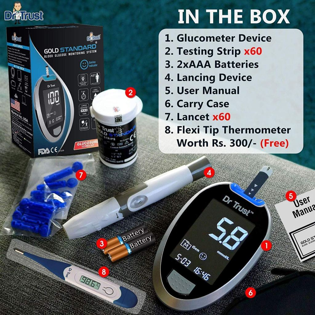 Wellness Health Care Device- Glucometer by Dr Trust for Diabetic Patients