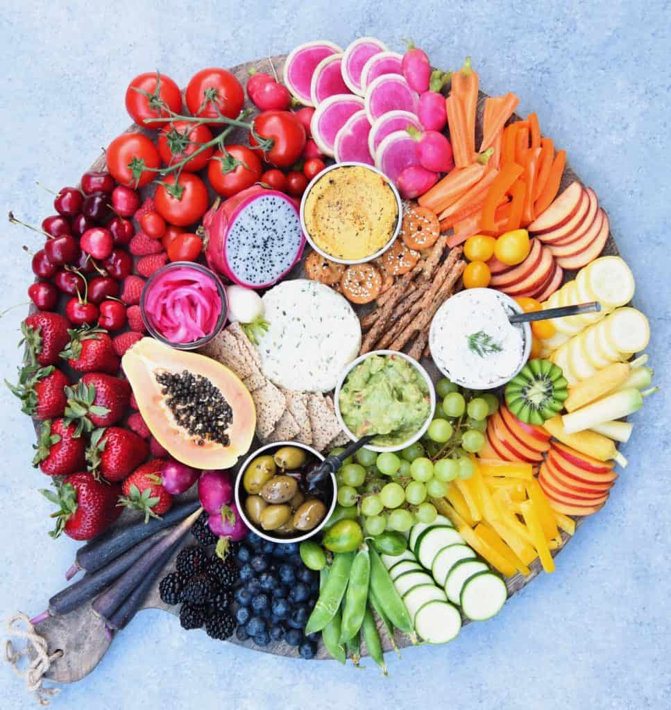 Positive Pranic Food- eat a rainbow of fruits and vegetables every day.