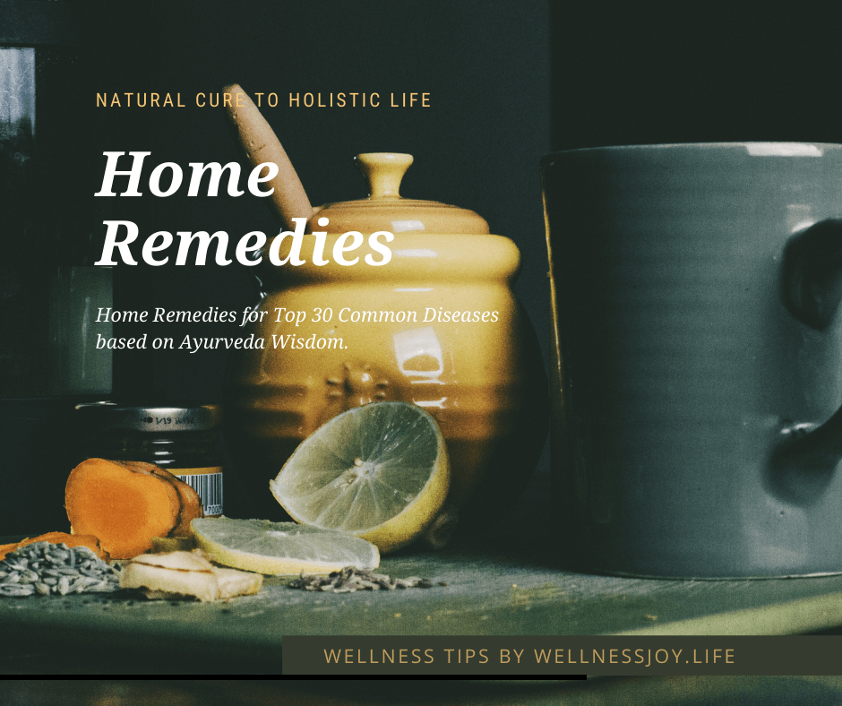 Home Remedies for Top 30 Common Diseases based on Ayurveda Wisdom.