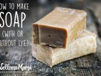 How to make soap- with or without lye
