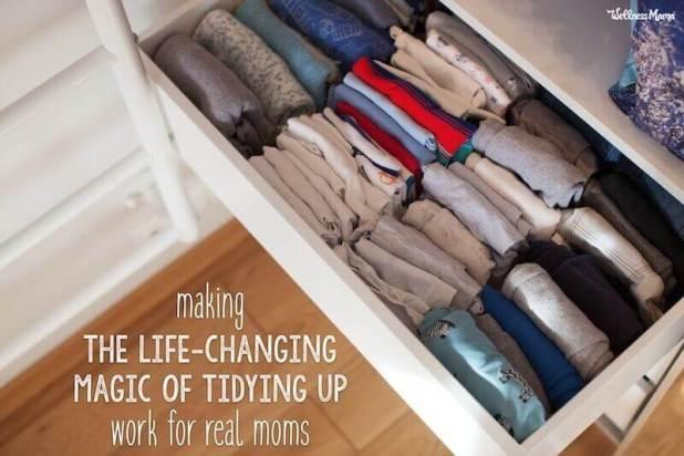 Marie Kondo konmari method for a family