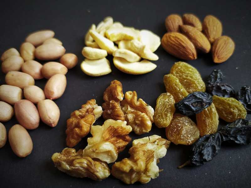Diet during exam- Nuts provide proteins as well as good fats