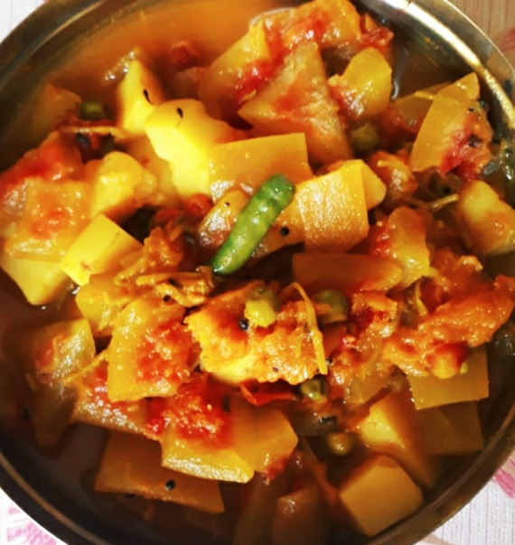 Mixed Veg Curry with watermelon rind