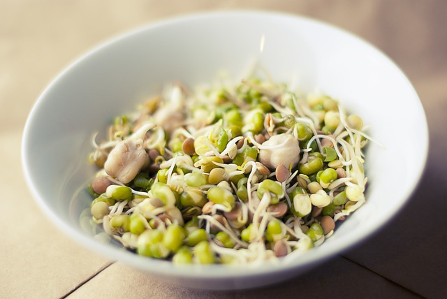 How to eat a veg source of iron-rich food - eat sprouts