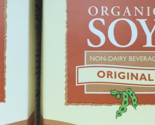 Soy - your body thinks its estrogen