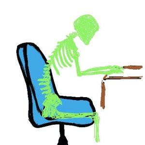 Skeleton at Desk