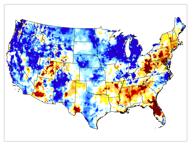 Groundwater Drought/Wetness Percentiles, February 13, 2017 (NASA)