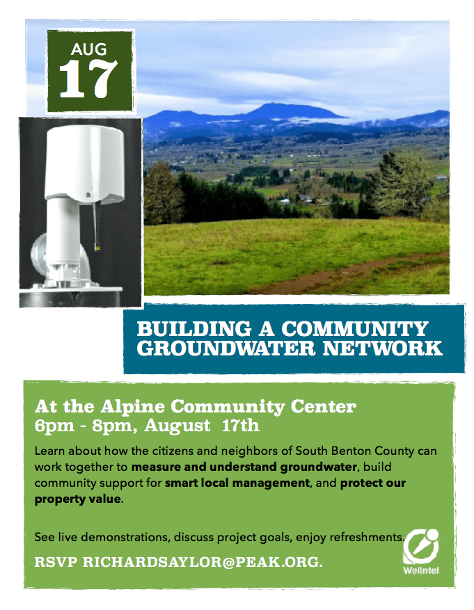 Building a community groundwater network in South Benton County Oregon