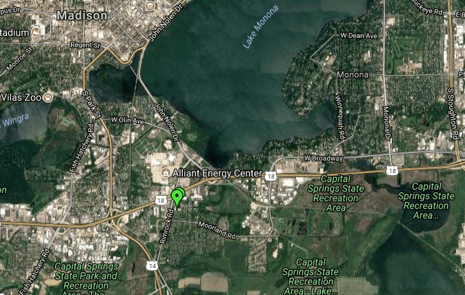 Badger Rock Center to Lake Monona
