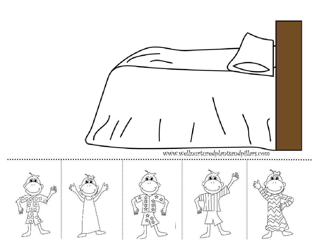 Freebie Friday Five Little Monkeys Jumping On The Bed