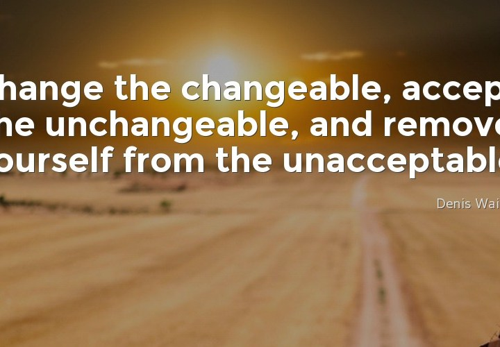 Change the changeable