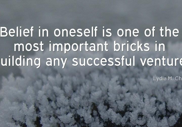 Believe in oneself