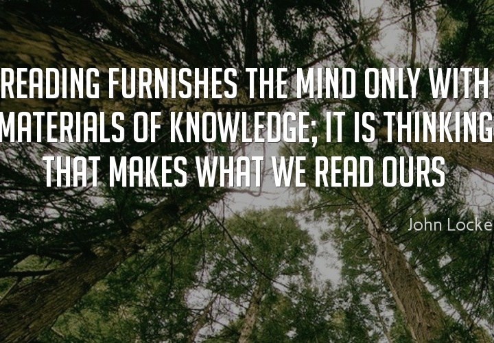 Reading furnishes the mind