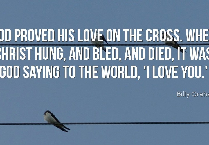 God proved his love on the cross
