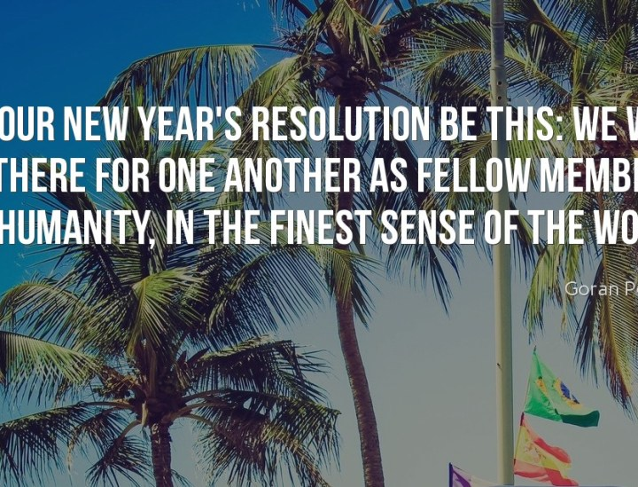 Let our new year's resolution