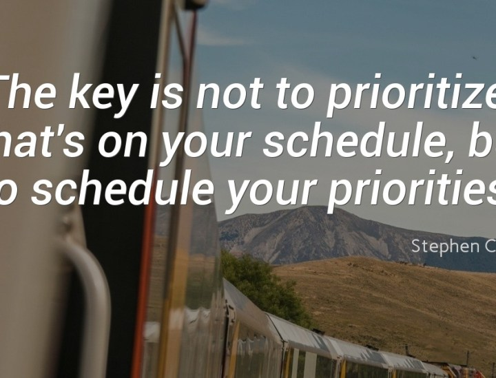 The key is not to prioritize