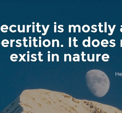 Security is mostly a superstition