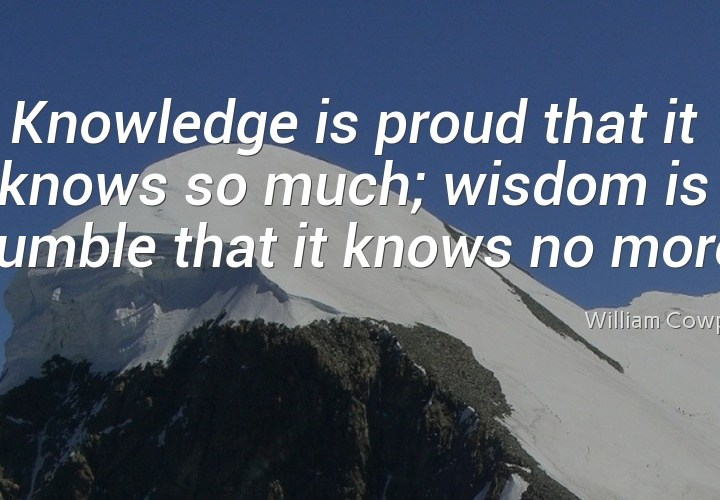 Knowledge is proud