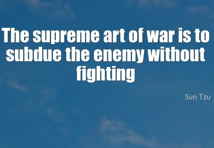 The supreme art