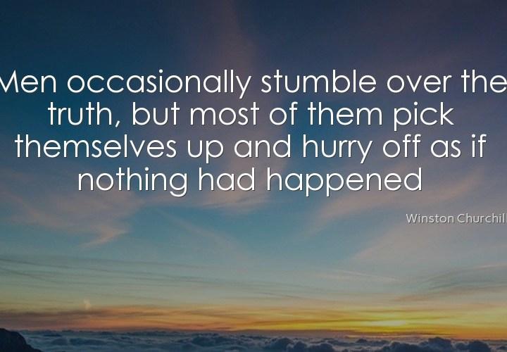 Men occasionally stumble