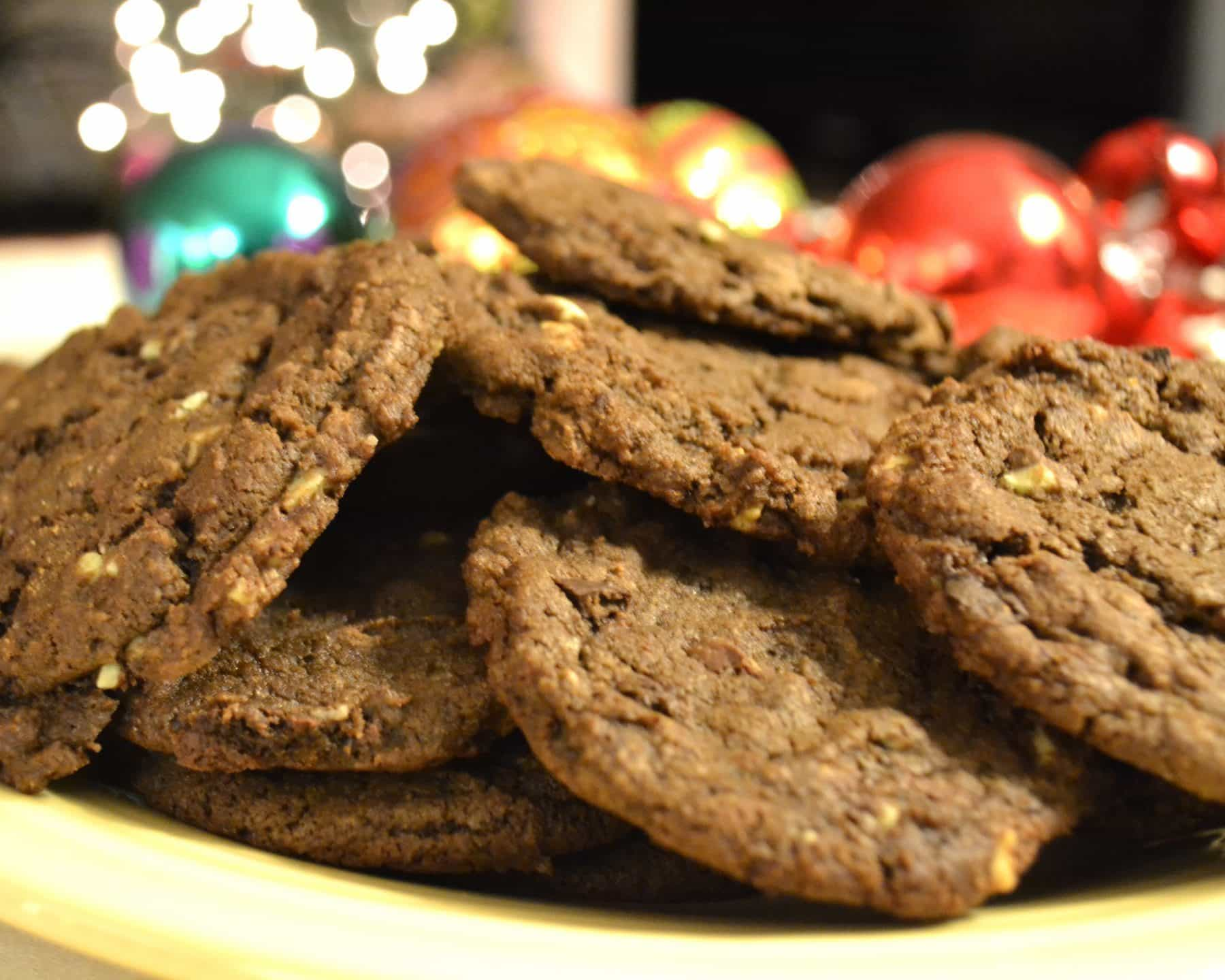 Double Dark Chocolate Mint Chip Cookies