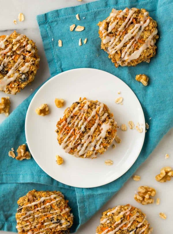 Chewy Carrot Cookies with Oatmeal