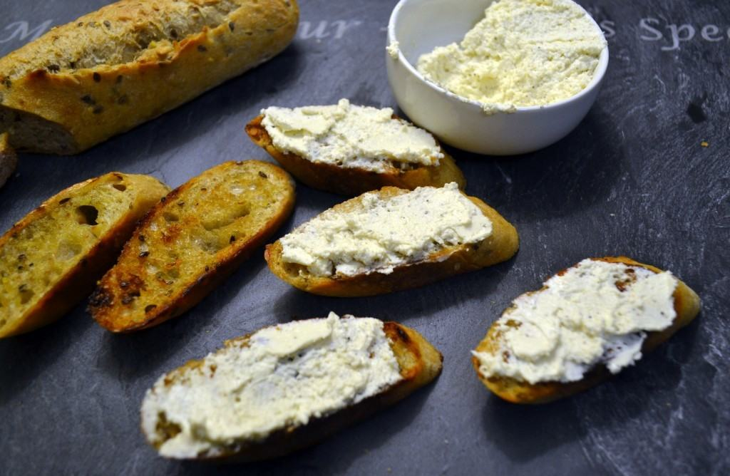 Whipped Feta Crostini | The Law Student's Wife