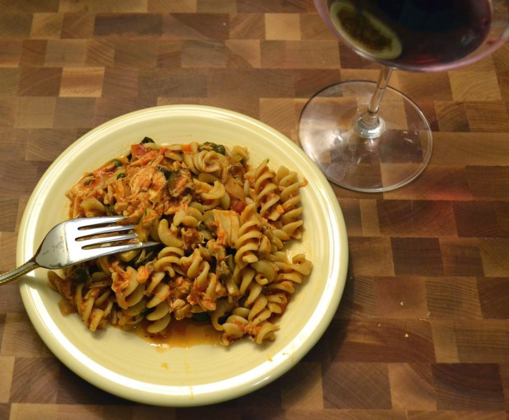 Tuna, Tomato, and Mushroom Pasta | The Law Student's Wife