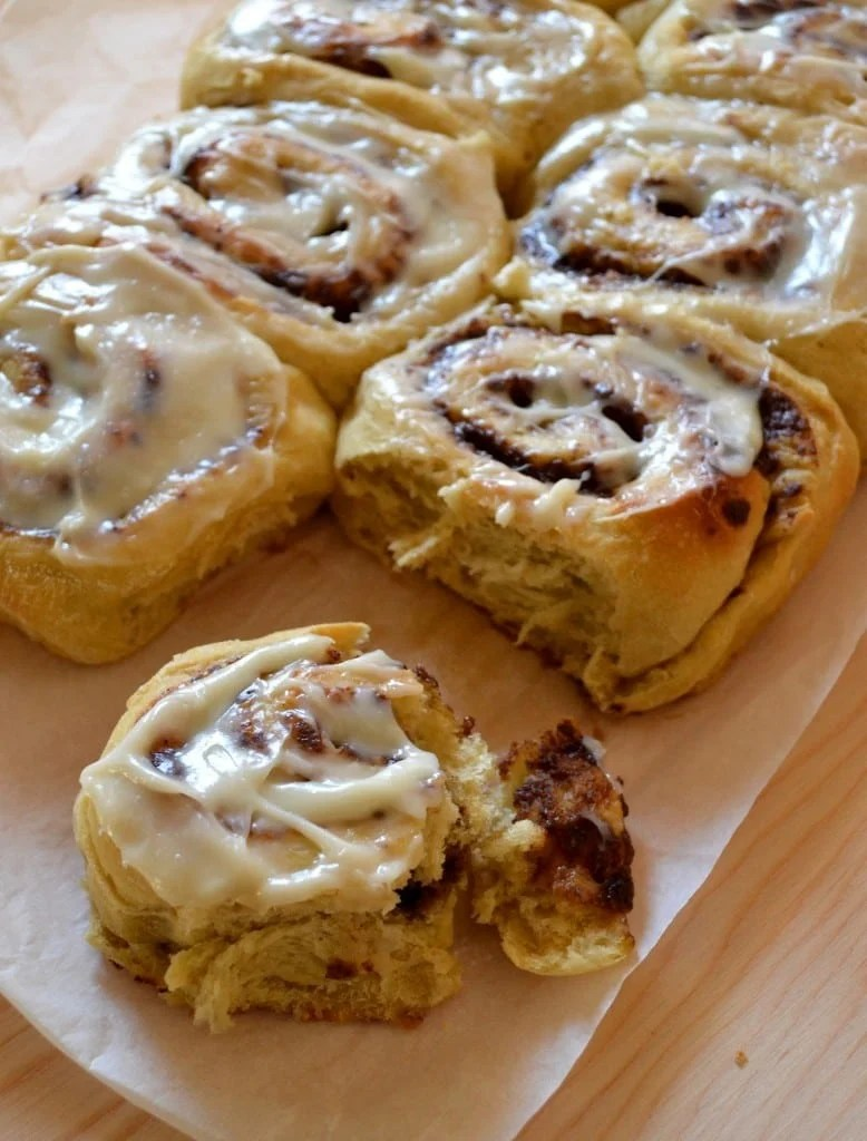 Yukon Gold Cinnamon Rolls with Cream Cheese Frosting. Softest cinnamon rolls EVER!