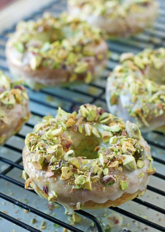 Baked Pistachio Donuts