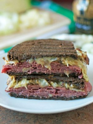 Corned Beef and Cabbage Grilled Cheese