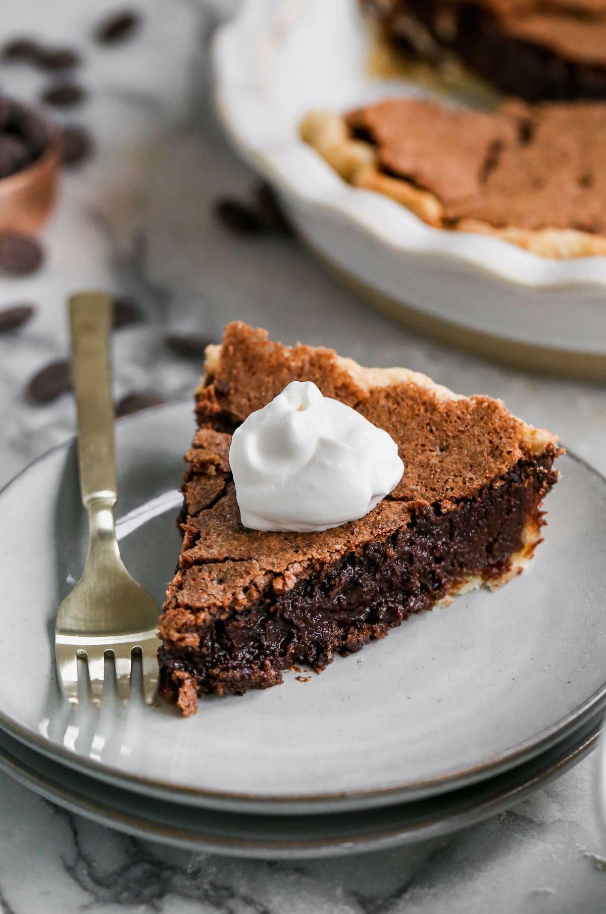 Irish Whiskey Brownie Pie-1