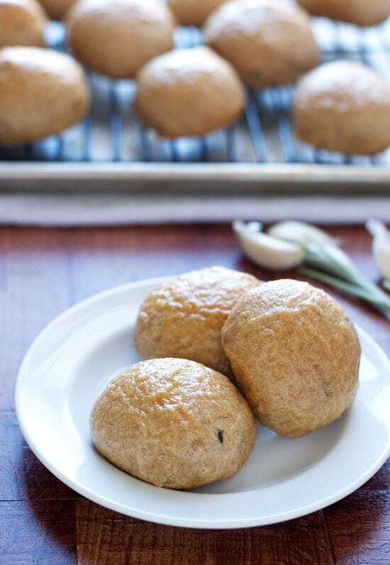 Roasted Garlic Potato Rolls - Easy shortcut recipe!
