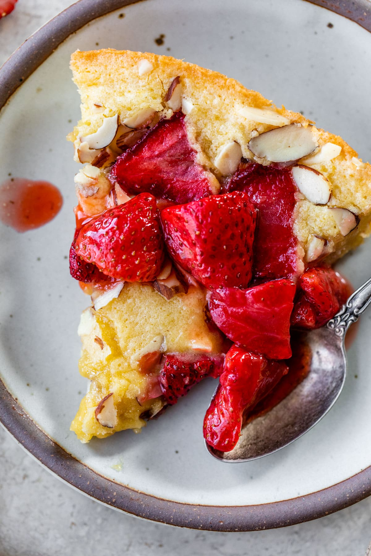 Roasted Strawberries for Strawberry Almond Skillet Cake