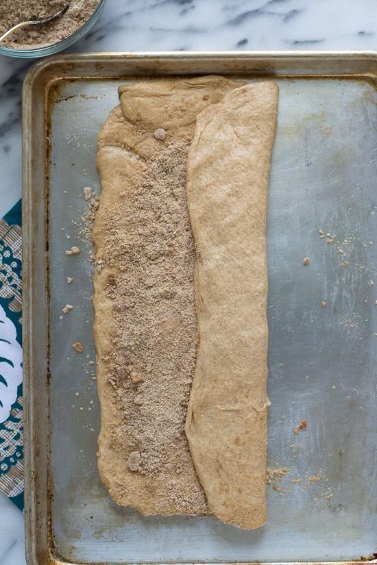 Double Stuffed Cinnamon Crumb Buns-Letter Fold, Side 1