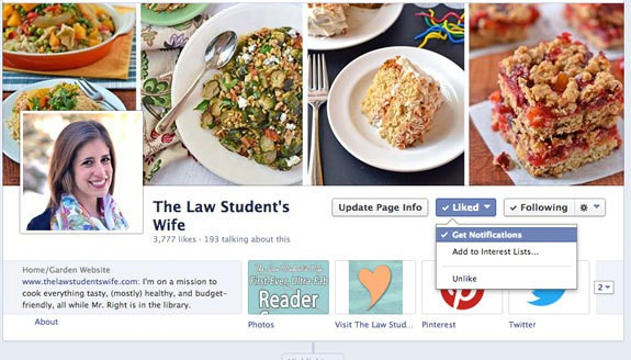 How to receive Facebook notifications for a page you've liked