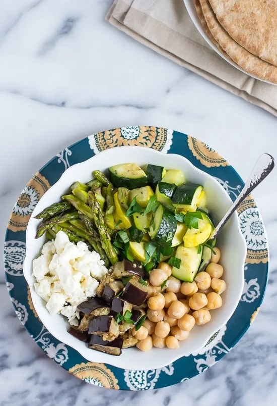 Mediterranean Roasted Vegetable and Chickpea Salad - Healthy and delicious