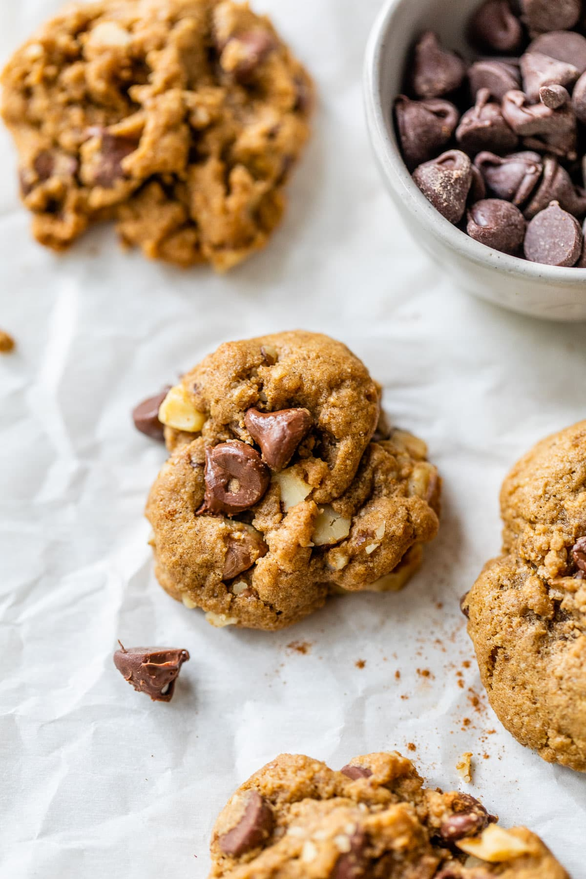 Whole Wheat Walnut Chocolate Chip Cookies. My PERFECT chocolate chip cookie recipe.