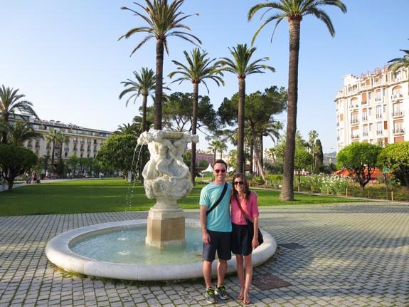 Albert 1 Park in Nice