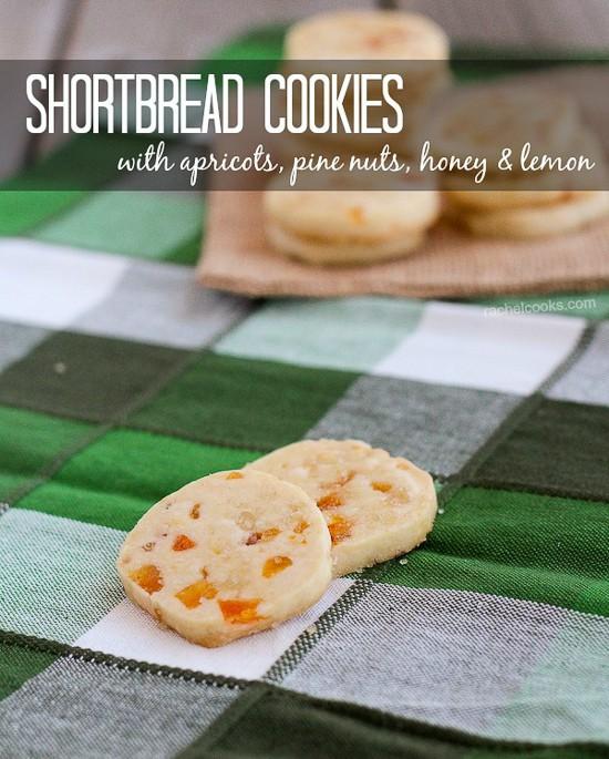 Apricot Pine Nut Shortbread Cookies