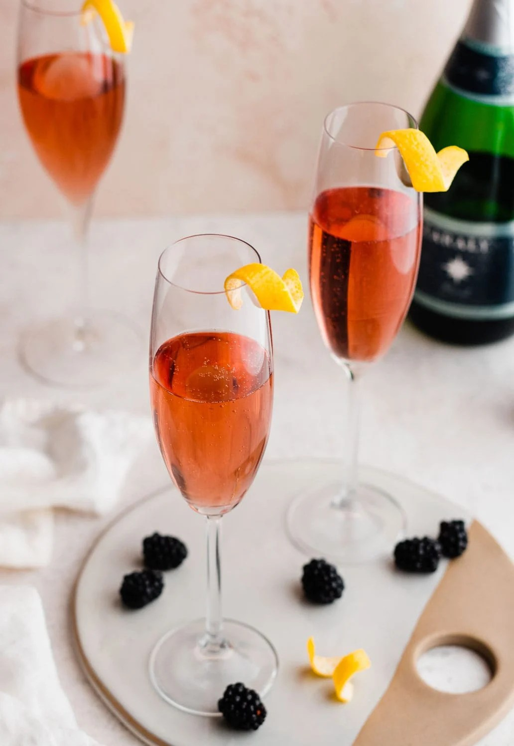 Kir Royale - 2 simple ingredients create the perfect French cocktail
