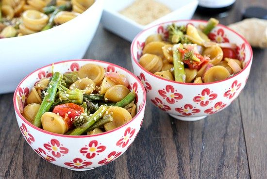 Asian Roasted Sesame Ginger Pasta-Healthy recipe
