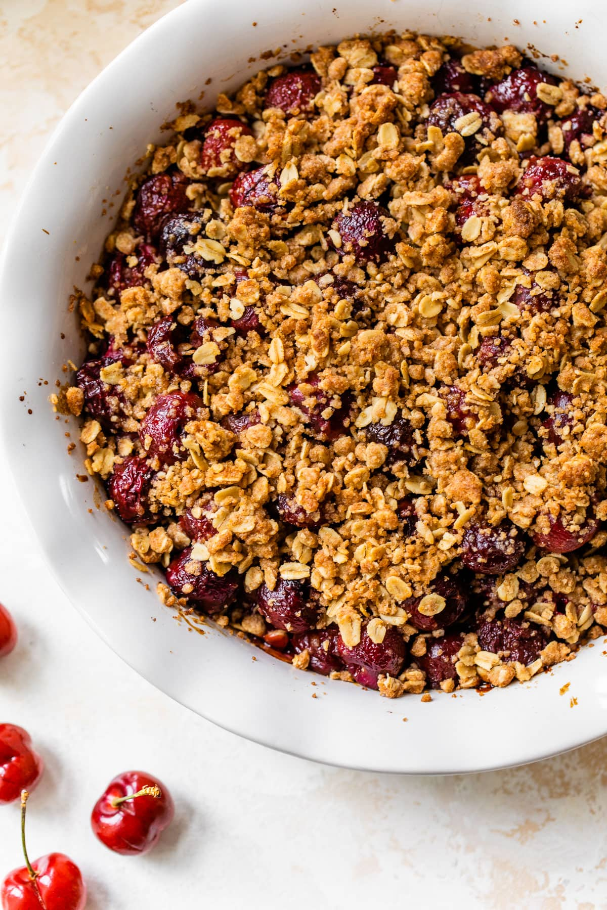 Double Crust Cherry Crisp - Twice the topping is twice as nice