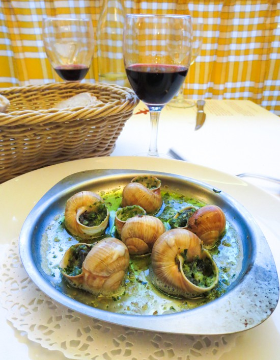 Escargots at la Rotisserie