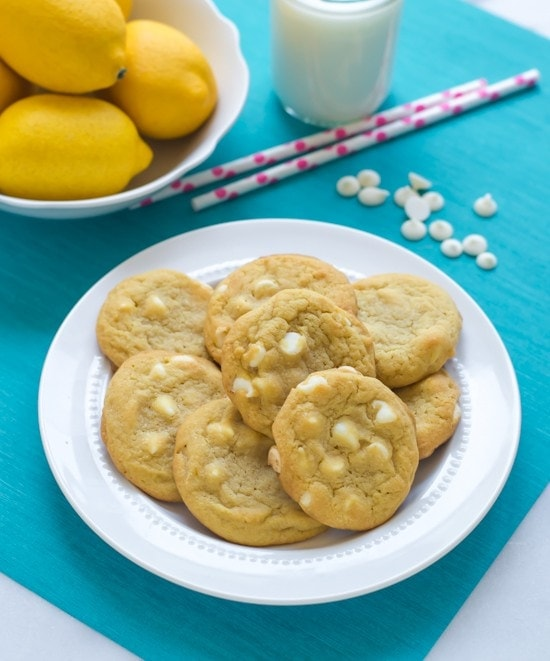 Lemon Pudding Cookies with White Chocolate Chips. Pudding mix makes these the softest cookies ever!