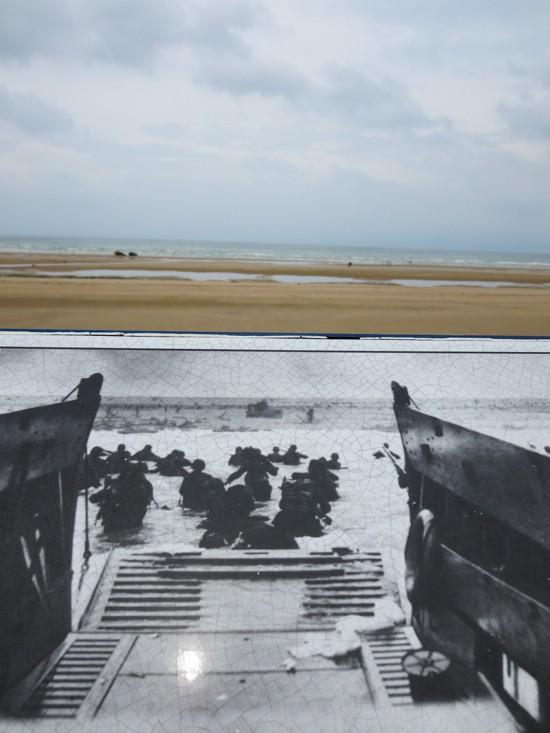 Photo Side by Side - Omaha Beach