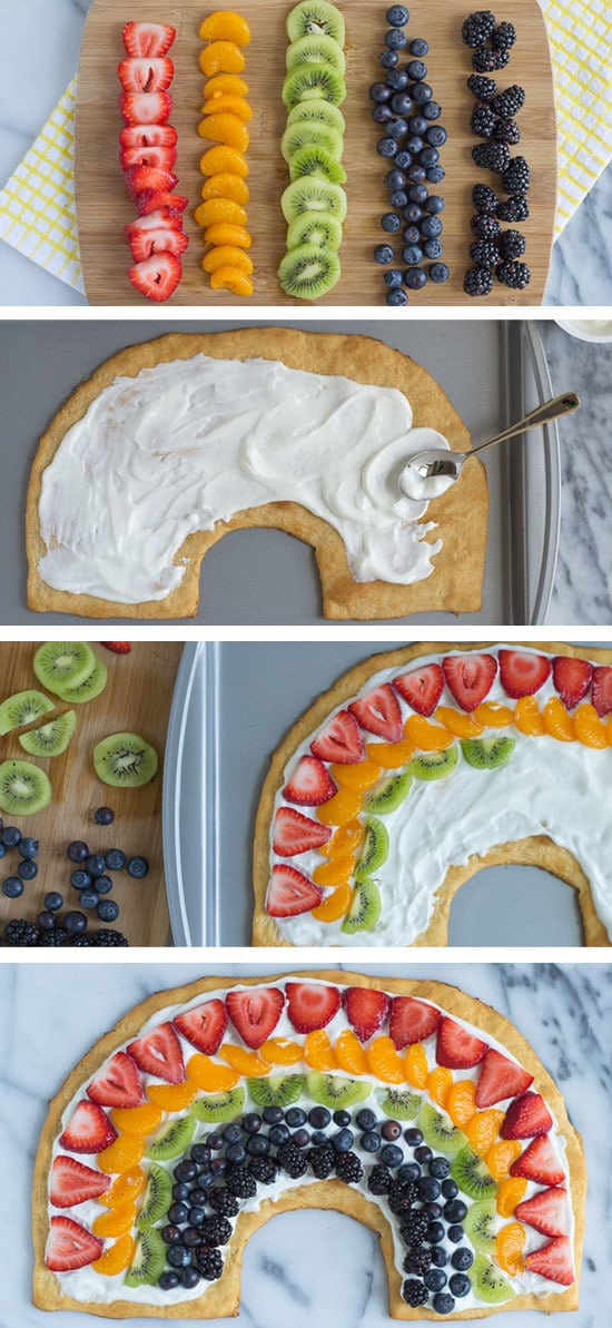 Rainbow Fruit Pizza with Easy Crescent Roll Crust