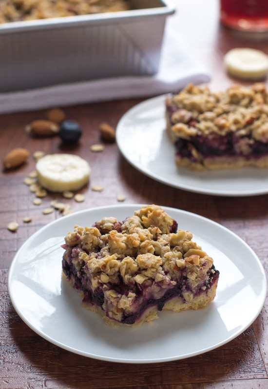 Skinny Banana Blueberry Bars. I can't believe these are lightened up!